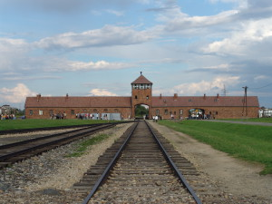 Entrance gate of the Auschwitz-Birkenau Nazi death camp