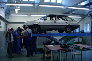 Car mechanics workshop