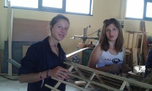 Romanian trainees of carpentry
