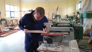Romanian trainees of carpentry, summer 2015