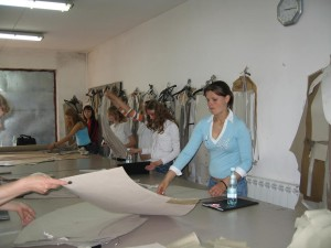 Romanian trainees of fashion design and sewing, May 2007