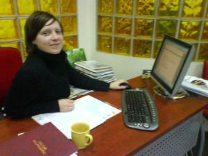 Andreja from Slovenia, an intern in travel agency Bissole, autumn 2007