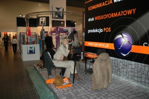 Trainee from Germany at marketing and advertising fair, 2008